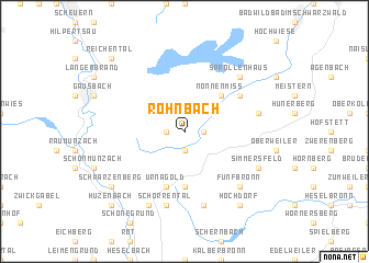 map of Rohnbach