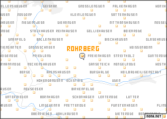 map of Rohrberg