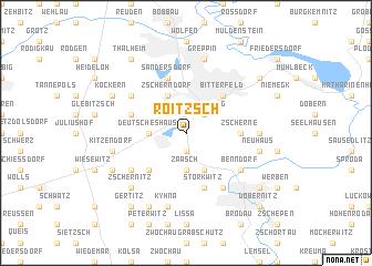 map of Roitzsch