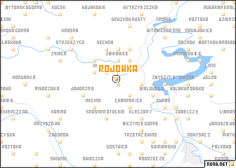 map of Rojówka