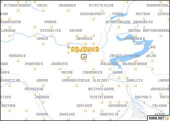 map of Rojówka