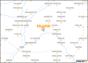 map of Rojūnai