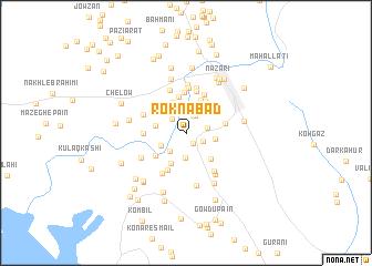 map of Roknābād