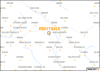 map of Rokytovce