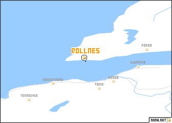 map of Rollnes