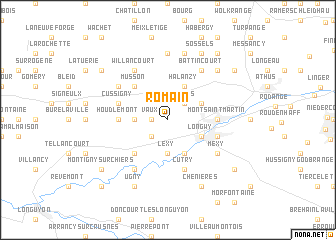 map of Romain