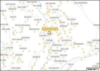 map of Romanós