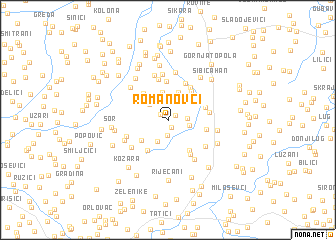 map of Romanovci