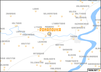 map of Romanovka