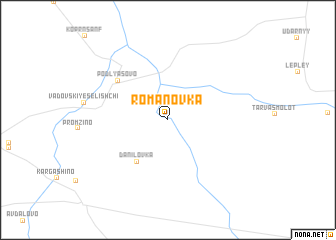 map of Romanovka
