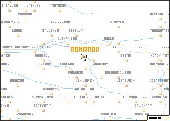 map of Romanov