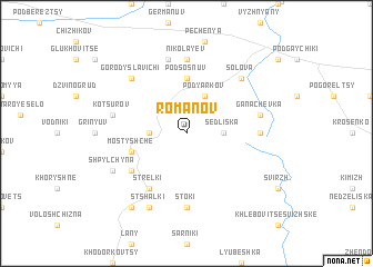 map of Romanov