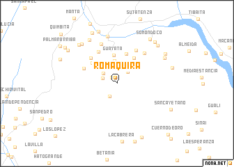 map of Romaquira