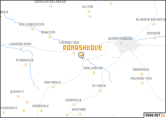 map of Romashkove