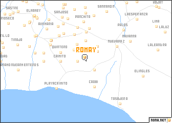 map of Romay