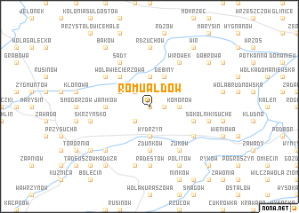 map of Romualdów
