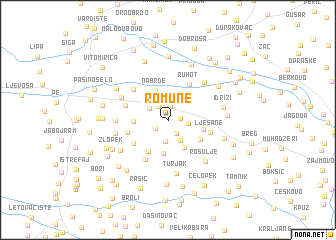 map of Romune