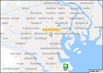 Roppongi Japan map nonanet