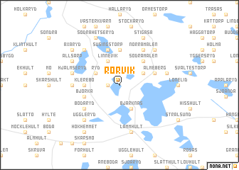 map of Rörvik