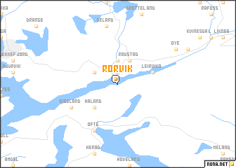 map of Rørvik