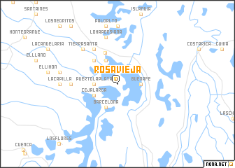 map of Rosavieja