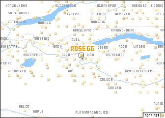 map of Rosegg