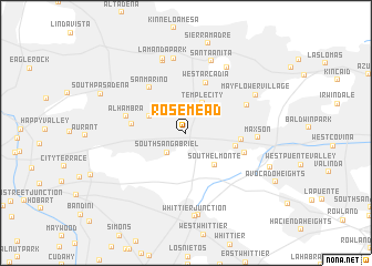 map of Rosemead