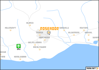 map of Rosemoor