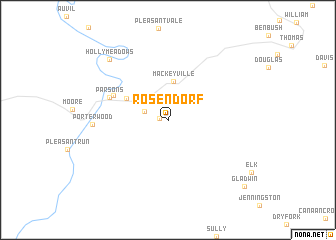 map of Rosendorf