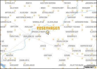 map of Rosenhagen