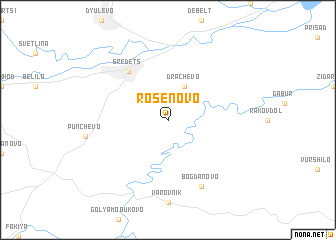 map of Rosenovo