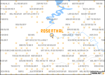 map of Rosenthal