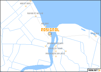 map of Rosignol