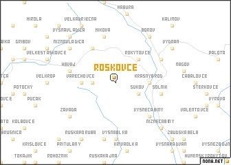 map of Roškovce