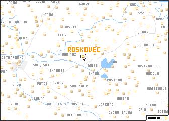 map of Roskovec