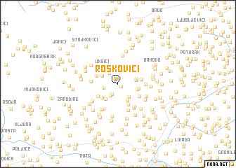 map of Roskovići