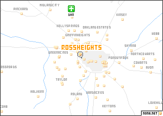 map of Ross Heights