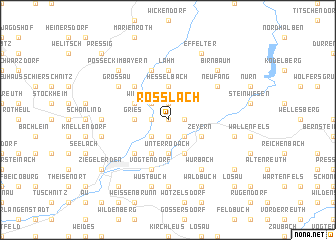 map of Roßlach