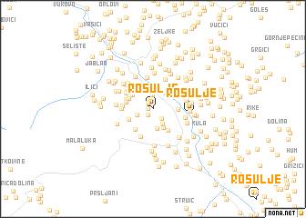 map of Rosulje