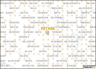 map of Rothau
