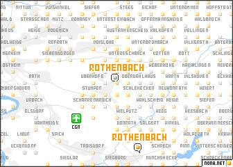 map of Rothenbach