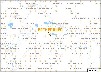 map of Rothenbürg