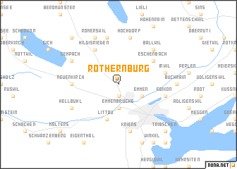 map of Rothernburg