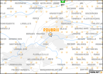 Roubaix France map nonanet