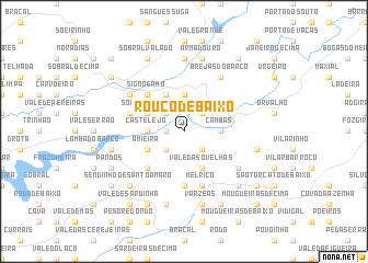 map of Rouco de Baixo