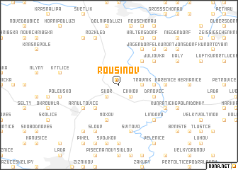 map of Rousínov