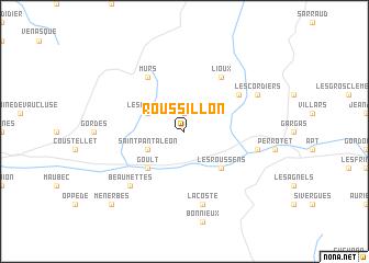 Roussillon France Map.Roussillon France Map Nona Net