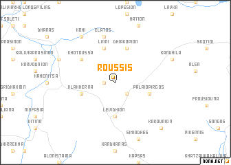 map of Roússis