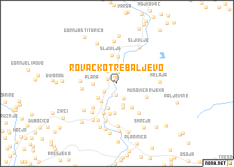 map of Rovačko Trebaljevo