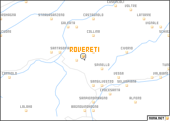 map of Rovereti